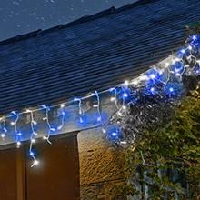 Blue & White Christmas Icicle lights