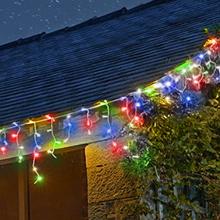 Multi-Coloured Christmas Icicle lights