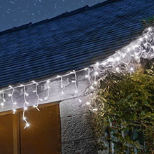 White outdoor Christmas fairy lights