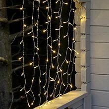 Christmas curtain lights