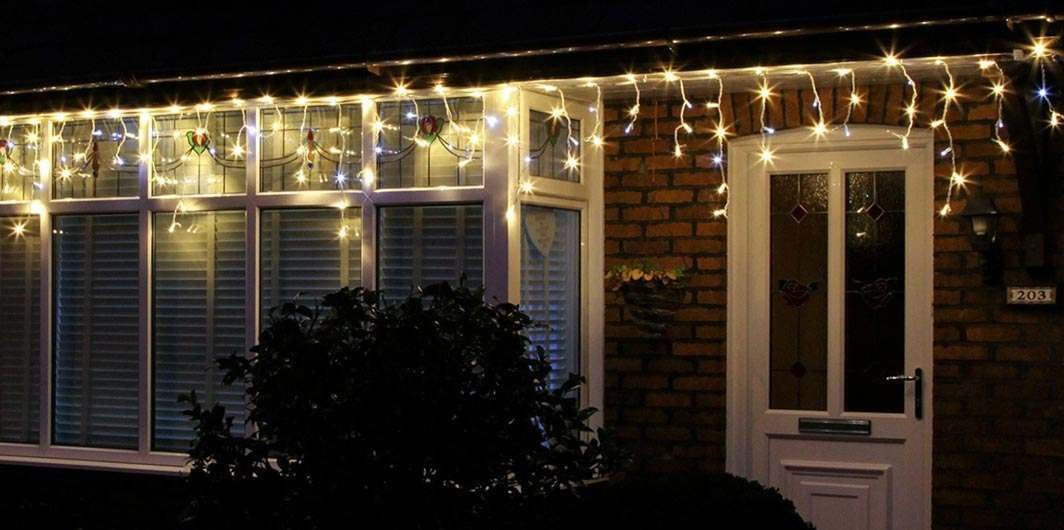 Christmas Icicle Lights Buy Now From Festive Lights