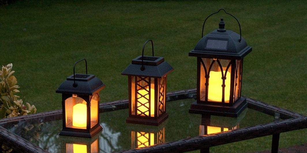 Garden Lanterns Battery Powered Solar Lanterns From Festive Lights