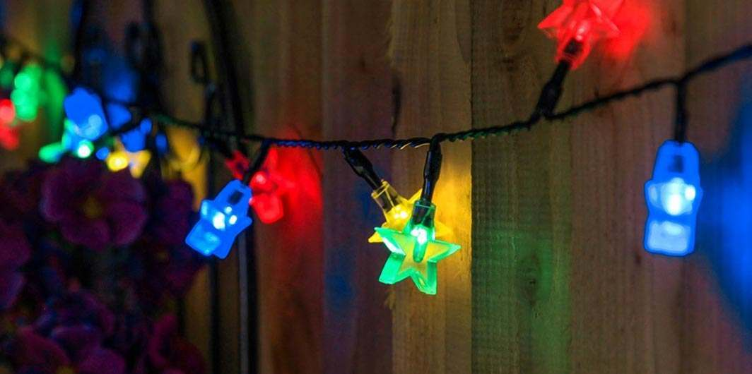 Multi coloured outdoor lights buy today from festive lights mozeypictures Choice Image