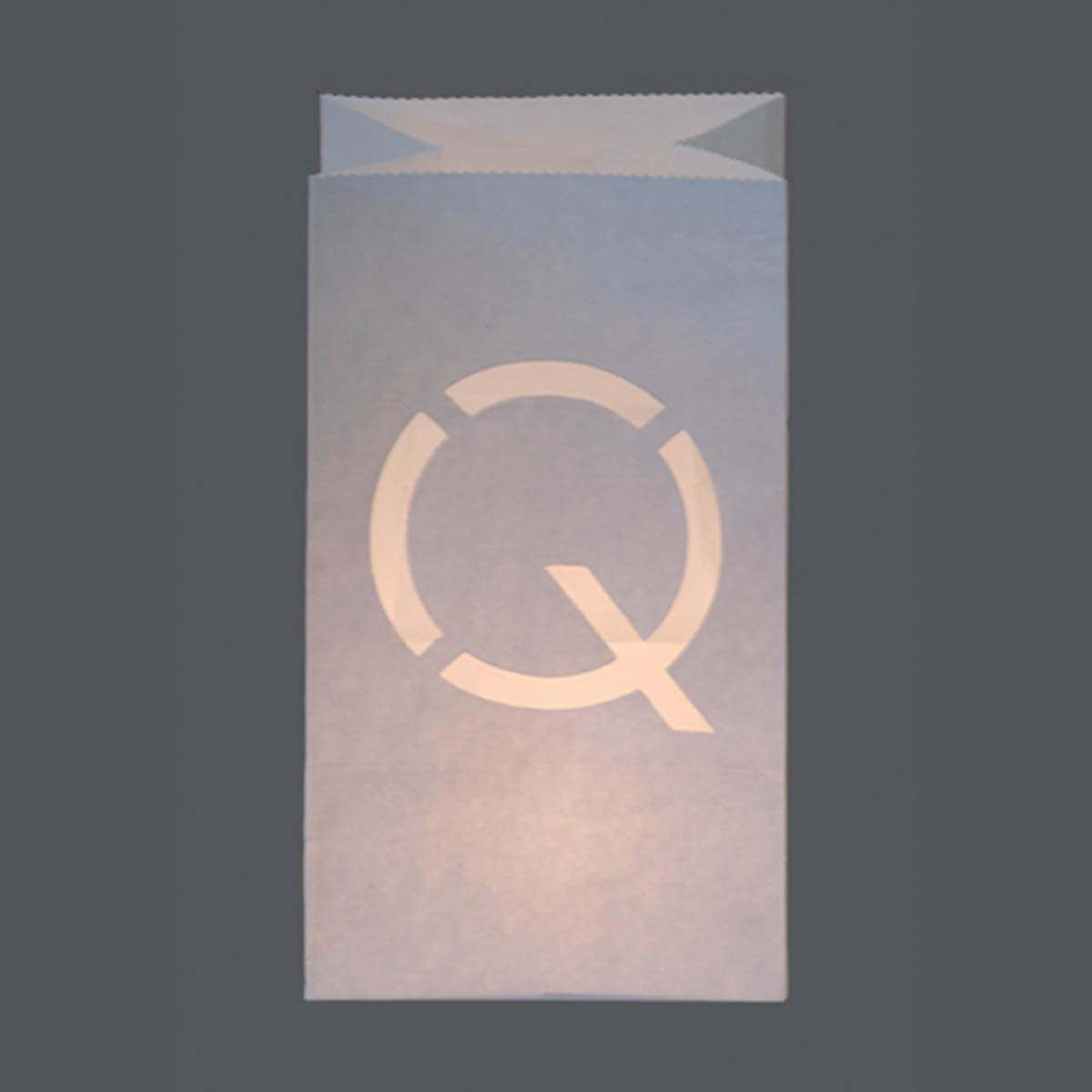 Click to view product details and reviews for Large Alphabet Letter Q Candle Bag 26cm.