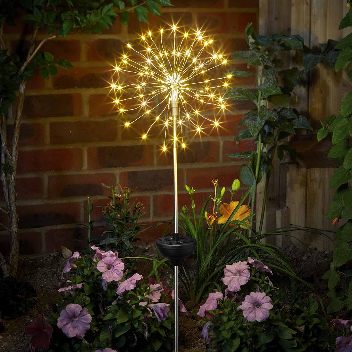 Solar Starburst Firefly Stake Light