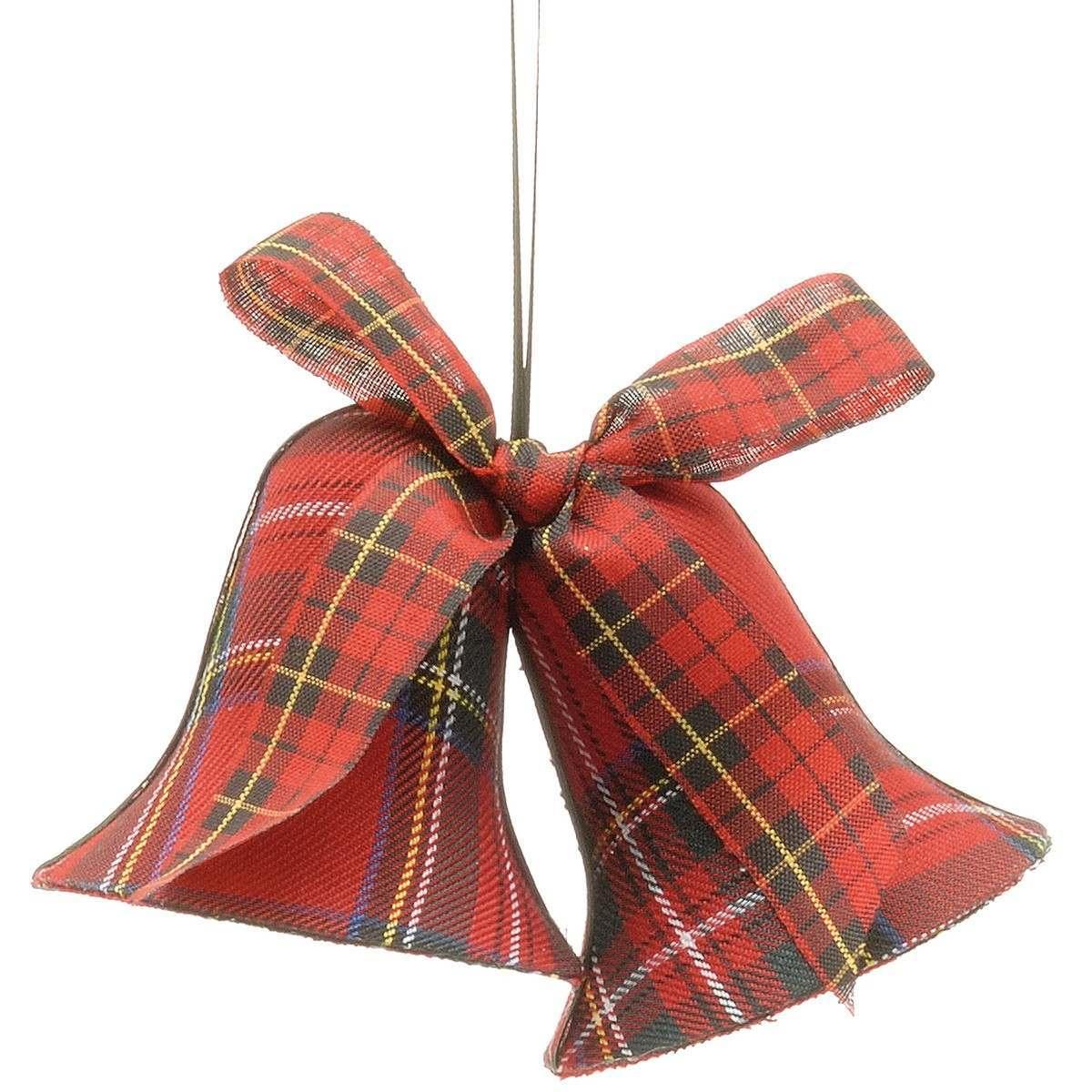 7.5cm Tarton Fabric Liberty Bell Decoration