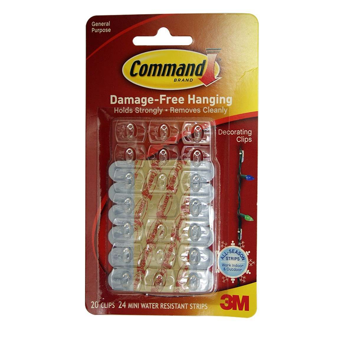 3M Command Outdoor Decorating Clips