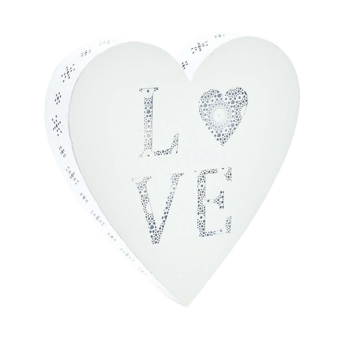 Click to view product details and reviews for Metal Love Heart Shape Battery Pre Lit Wall Art.
