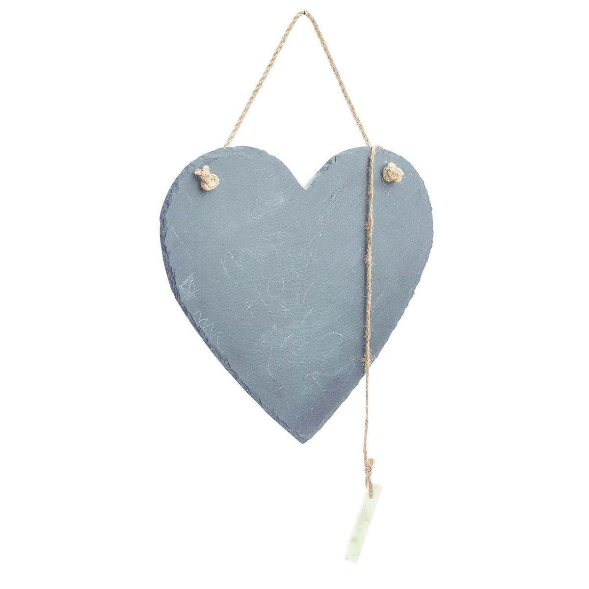 Gardman Outdoor Heart Slate Memo Board 25cm