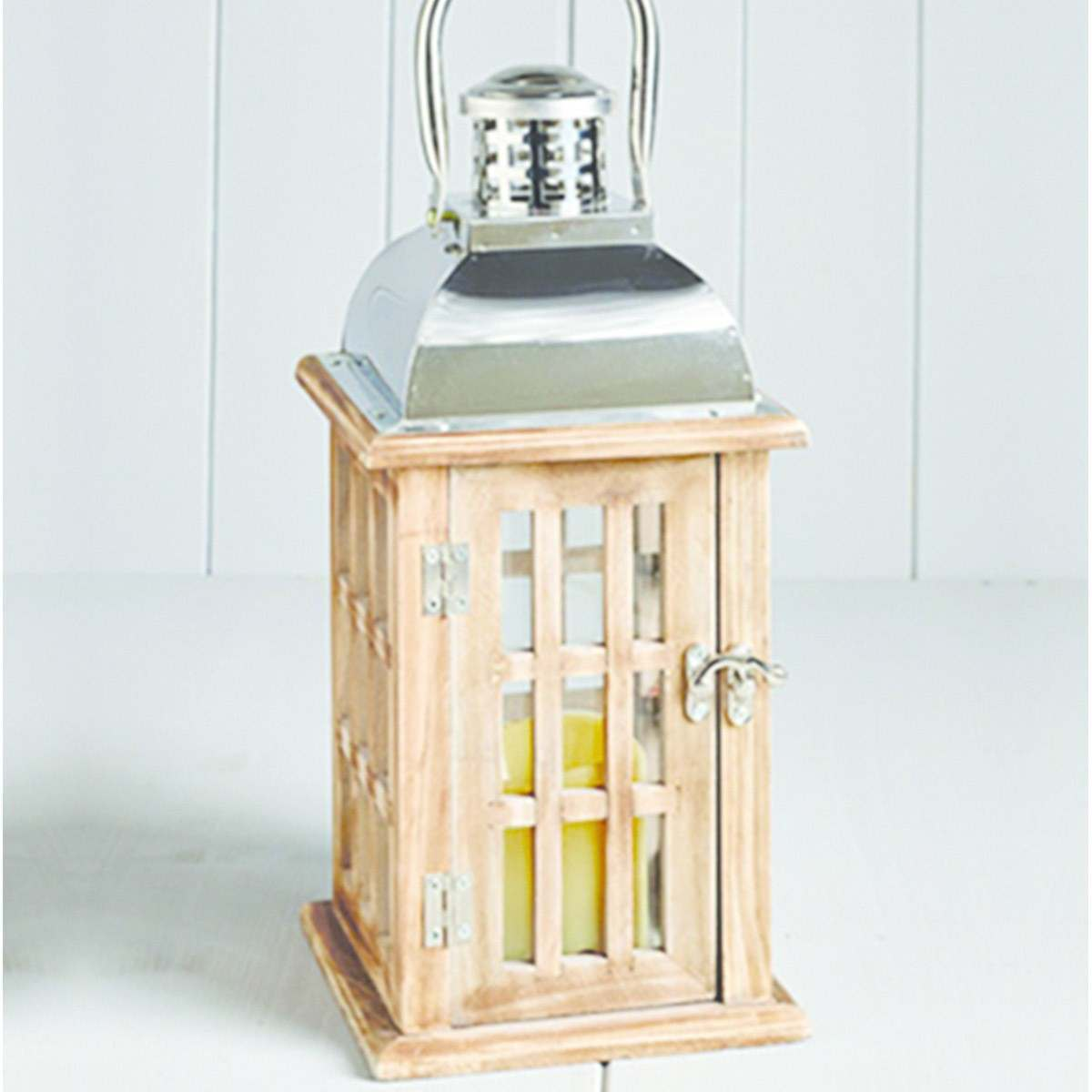 Click to view product details and reviews for Outdoor Wooden Battery Longstone Candle Lantern 32cm.