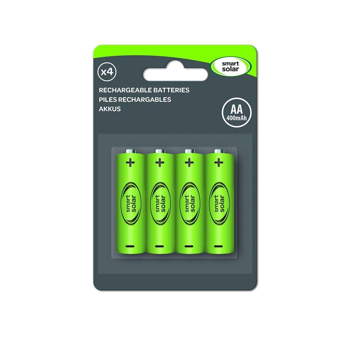 Smart Garden Rechargeable Batteries Aa 600 Mah 4 Pack