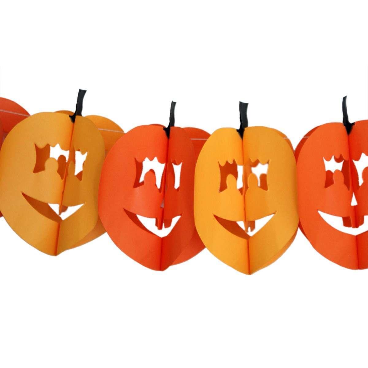 3m Pumpkin Halloween Paper Garland