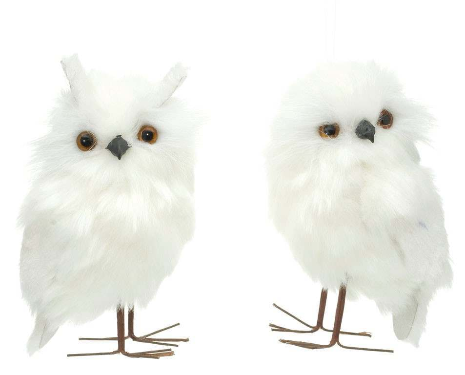 Click to view product details and reviews for 125cm Hanging White Fur Owl.