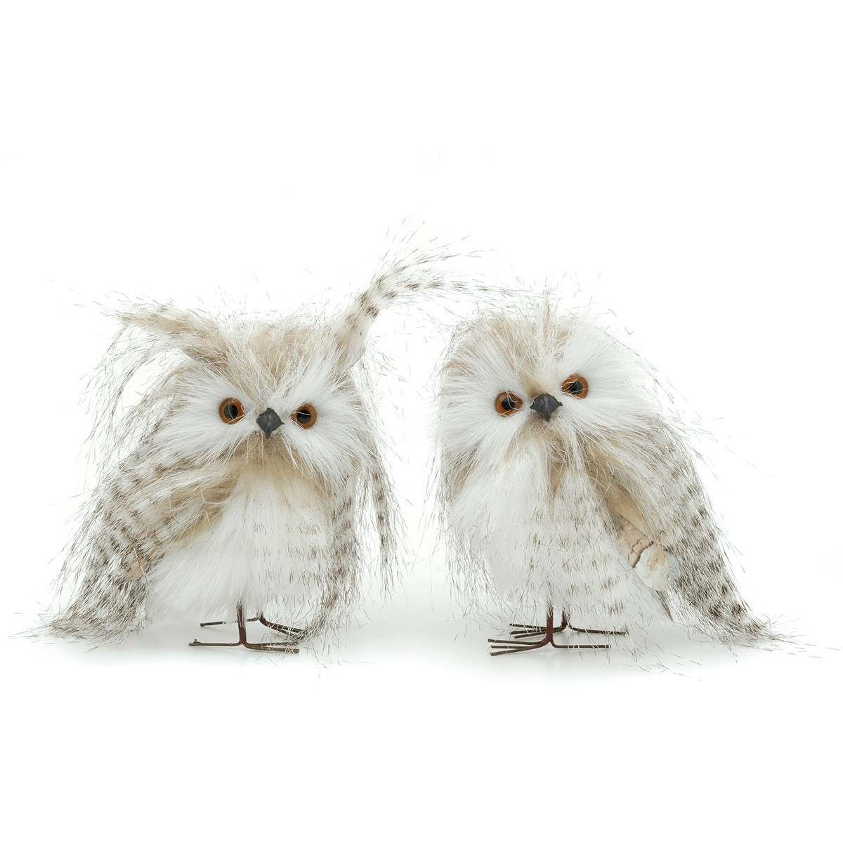 125cm Grey White Owls Tree Decorations 2 Asstd Designs