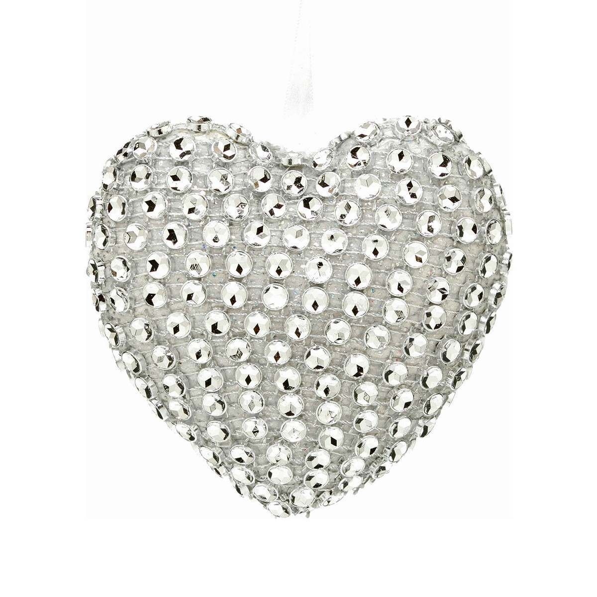 Click to view product details and reviews for 10cm Sparkling Heart Hanging Decoration.