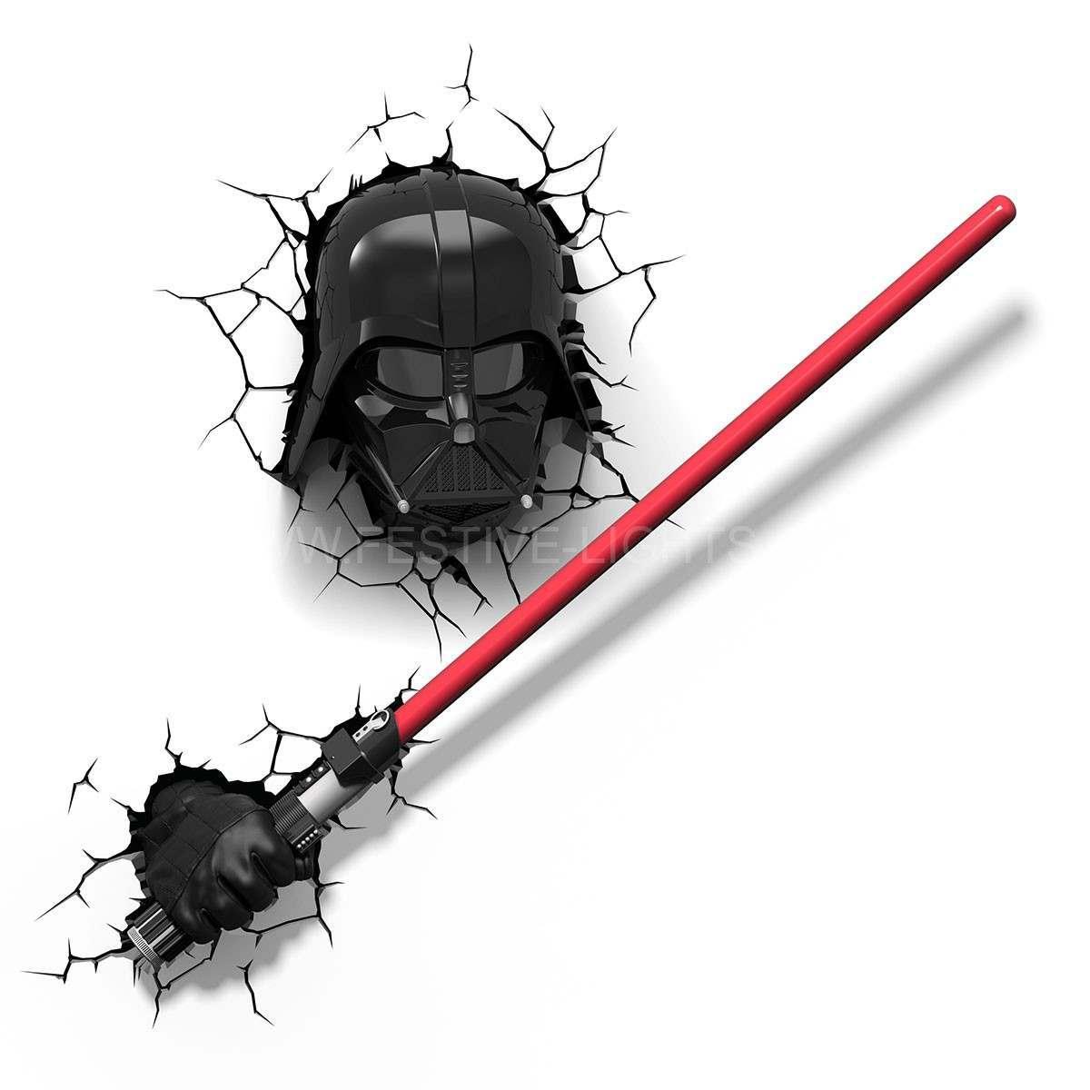NEW Star Wars Darth Vader 3D LED Battery Wall Deco Night Light