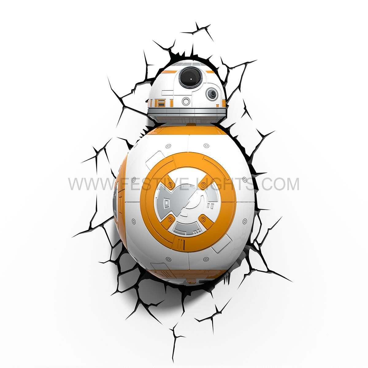 Star Wars: The Force Awakens BB-8 3D LED Battery Wall Deco Night Light