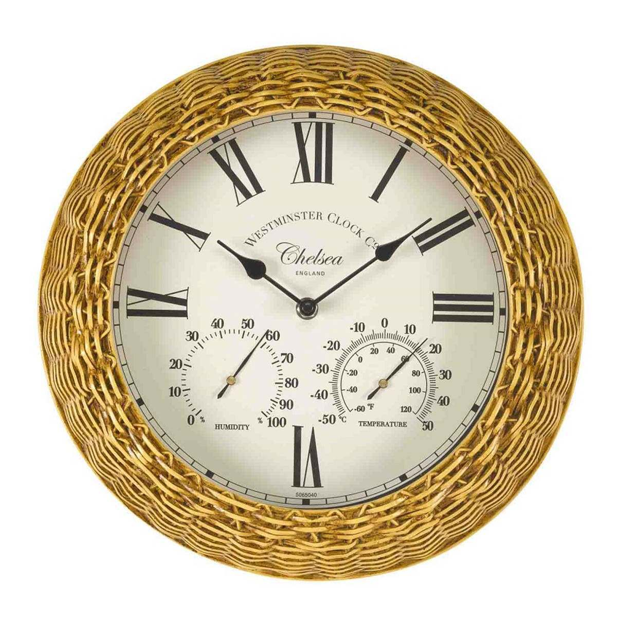 Click to view product details and reviews for Chelsea Wall Clock Thermometer 13.