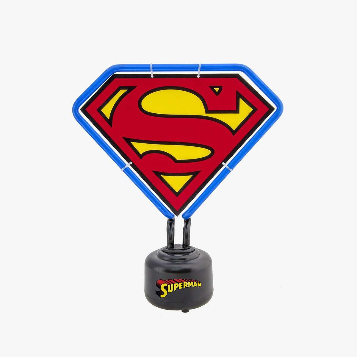 Small Superman Neon Light with Blue Classic Outline