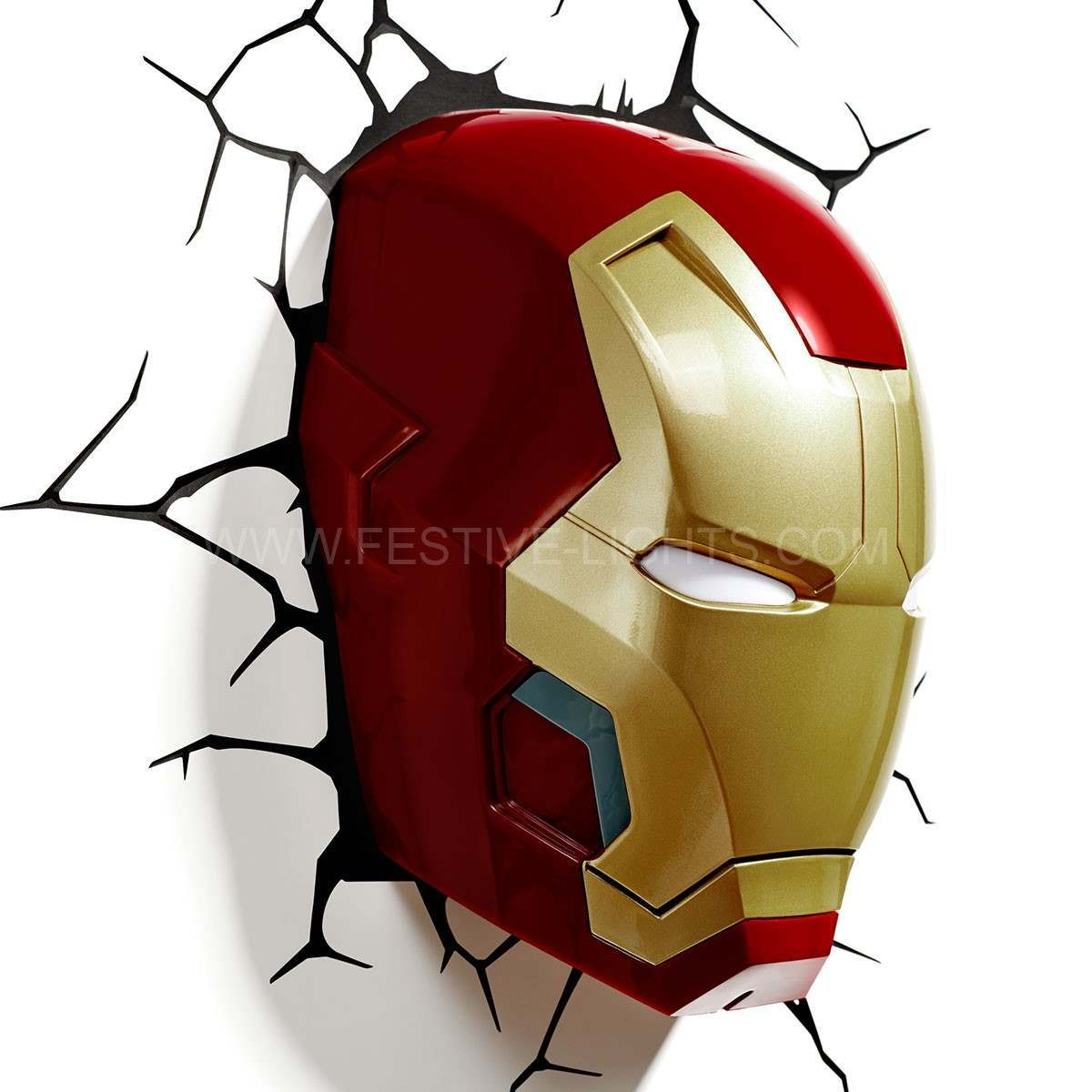 Click to view product details and reviews for Ironman Mask 3d Led Battery Wall Art Night Light.