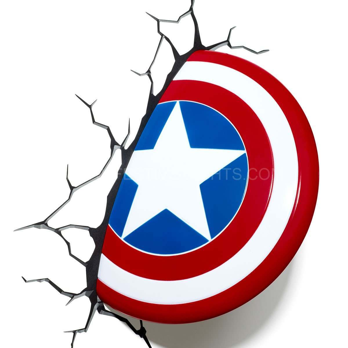 Captain America Shield 3D LED Battery Wall Art Night Light
