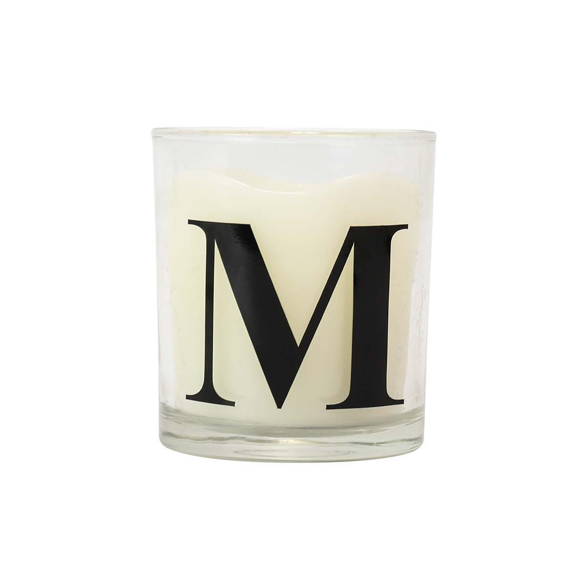 Click to view product details and reviews for Alphabet M Battery Vanilla Scented Flickering Led Glass Candle.
