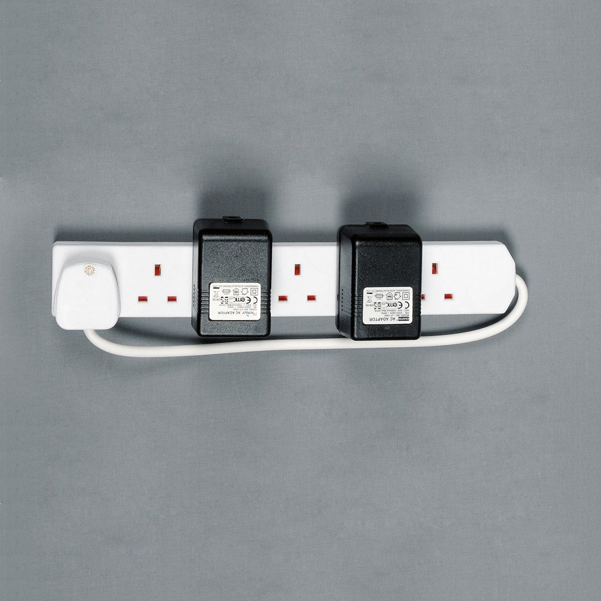 Extension Lead 6 Way Gang White