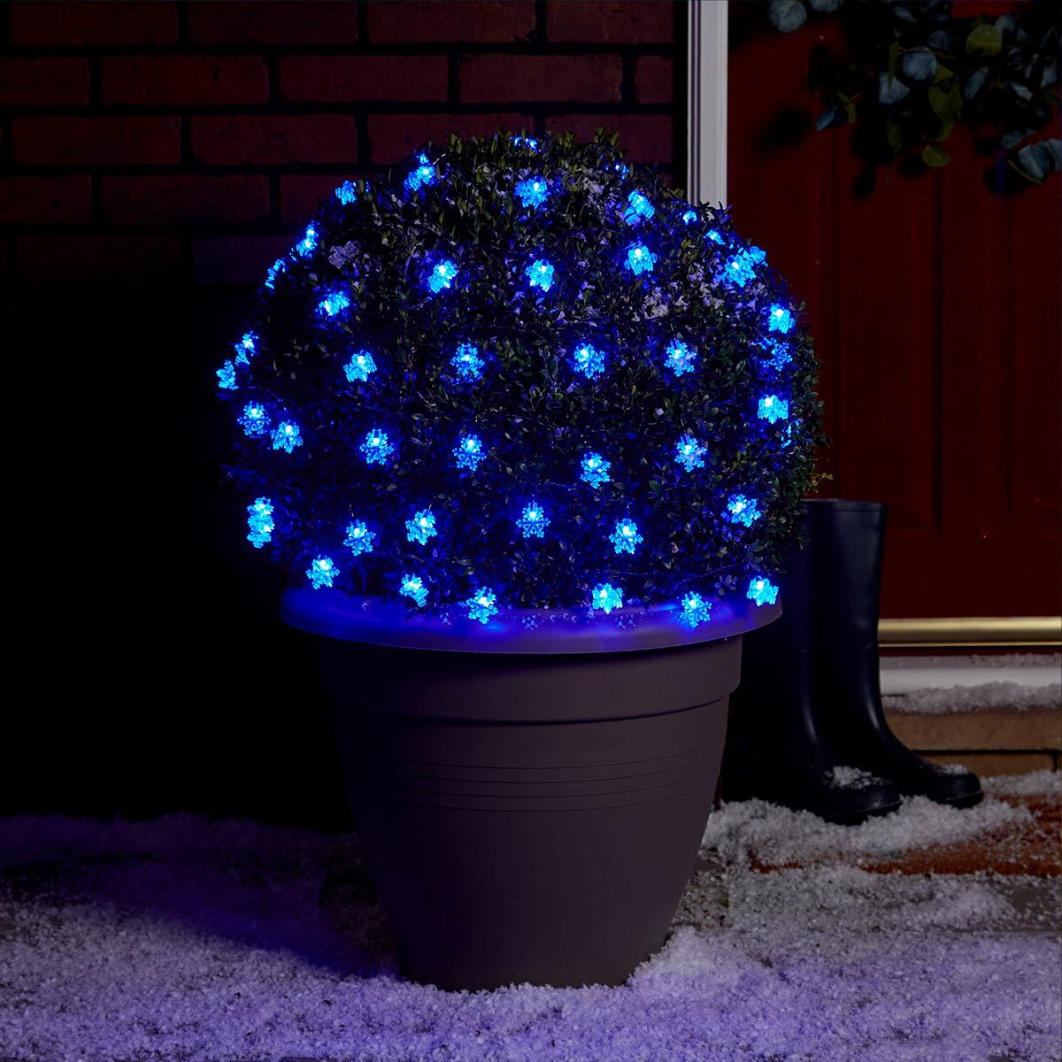 Click to view product details and reviews for 5m Outdoor Battery Snowflake Christmas Fairy Lights Blue Leds Green Cable.
