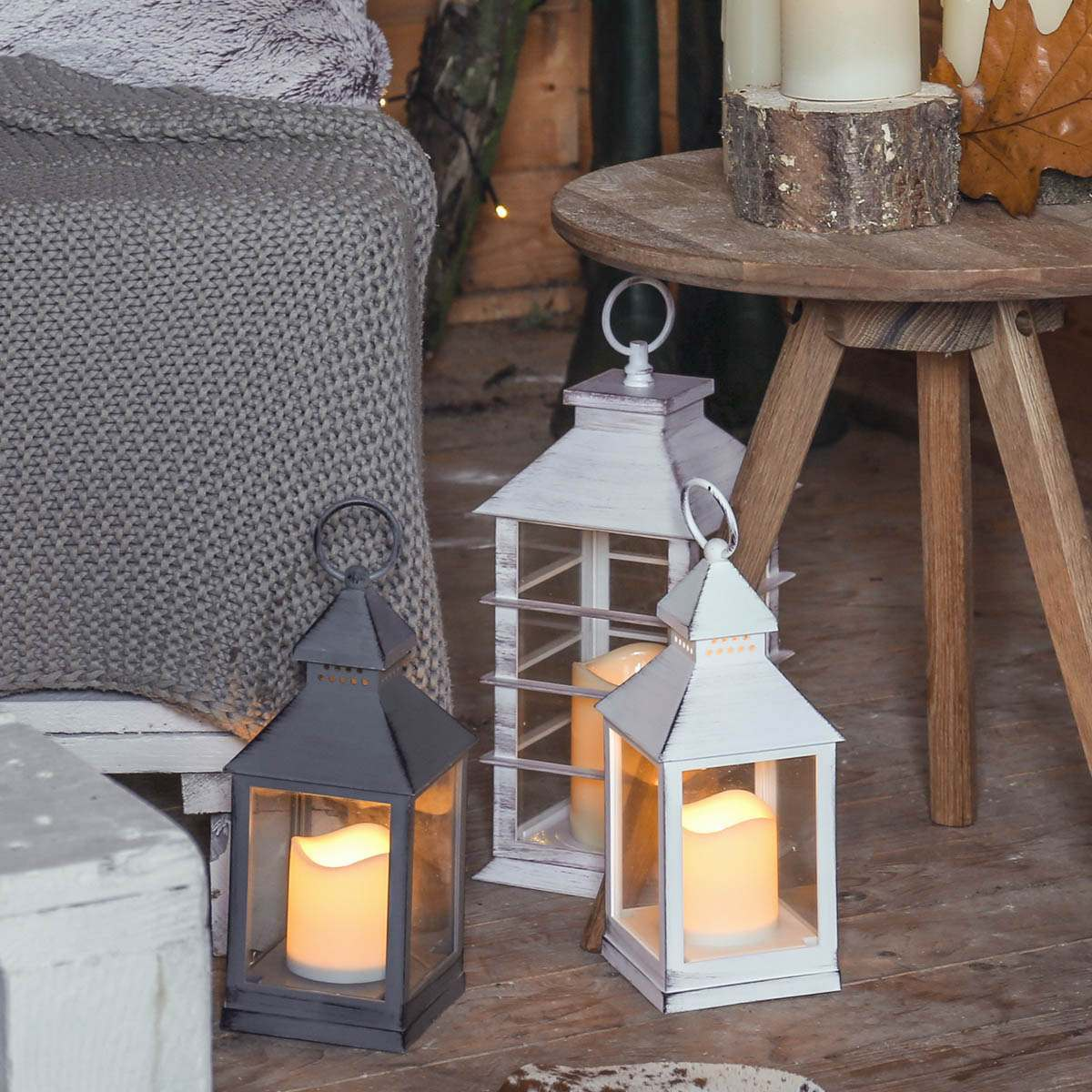 Porch Light Flickers When Off: Outdoor Battery Flickering Candle Lantern, 24cm
