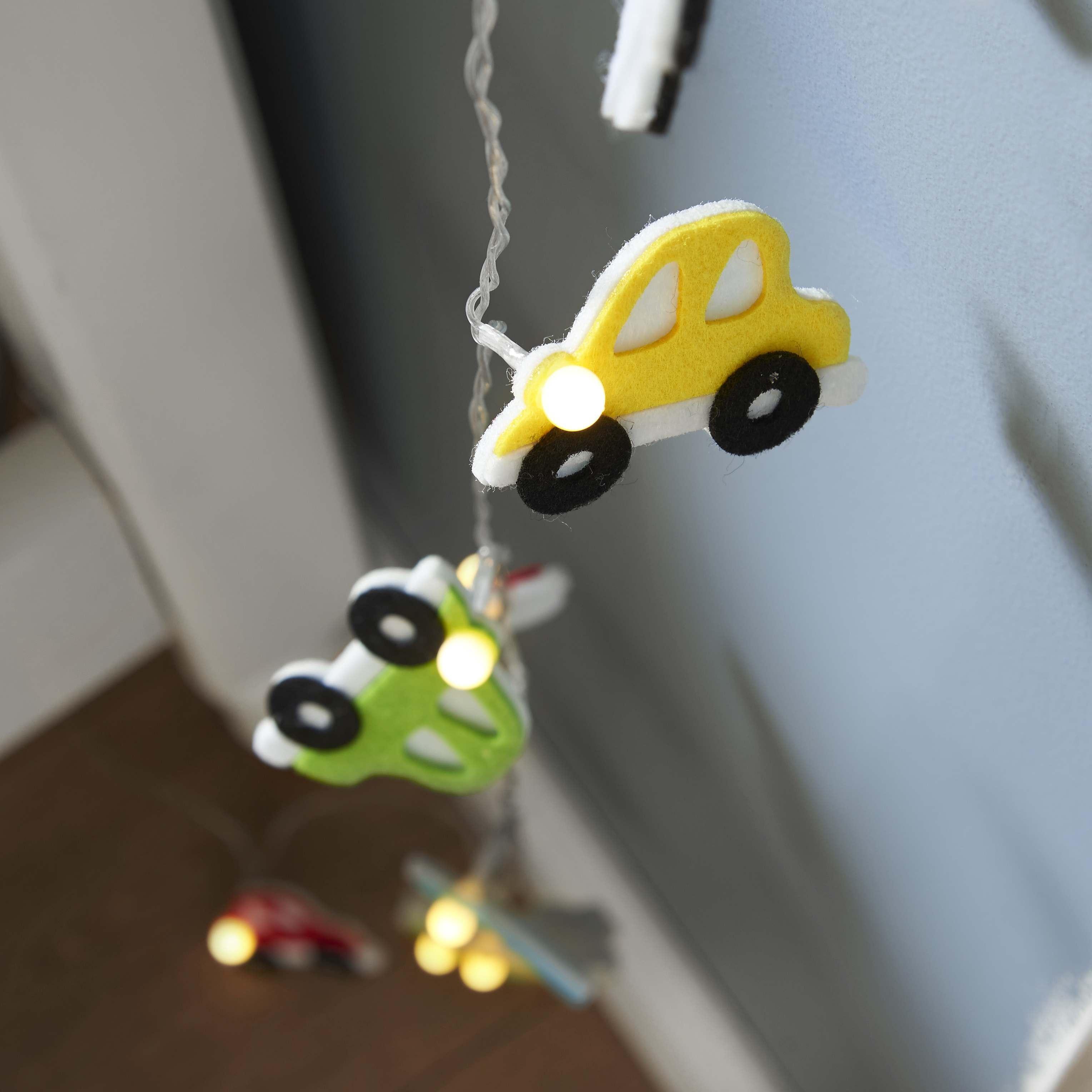 Battery Fabric Car Indoor Fairy Lights, 1.35m