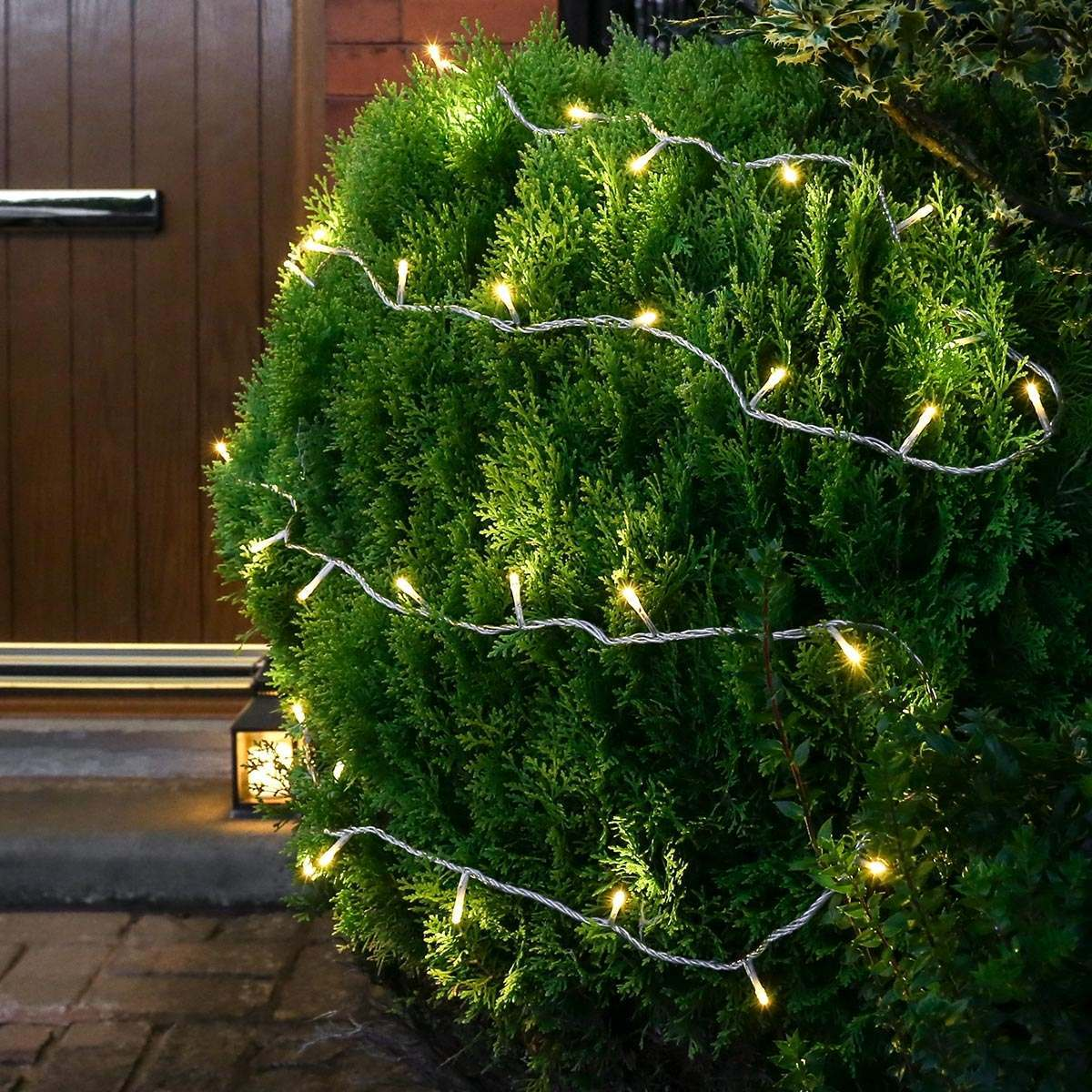 Click to view product details and reviews for 55m Warm White Christmas Fairy Lights Connectable 550 Leds Clear Cable.