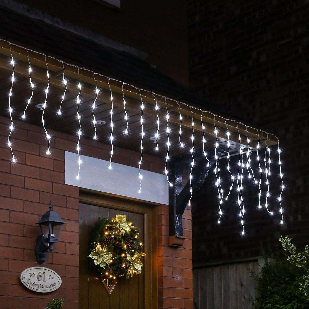 Click to view product details and reviews for 15m Christmas Icicle Light White Clear Cable 600 Leds.