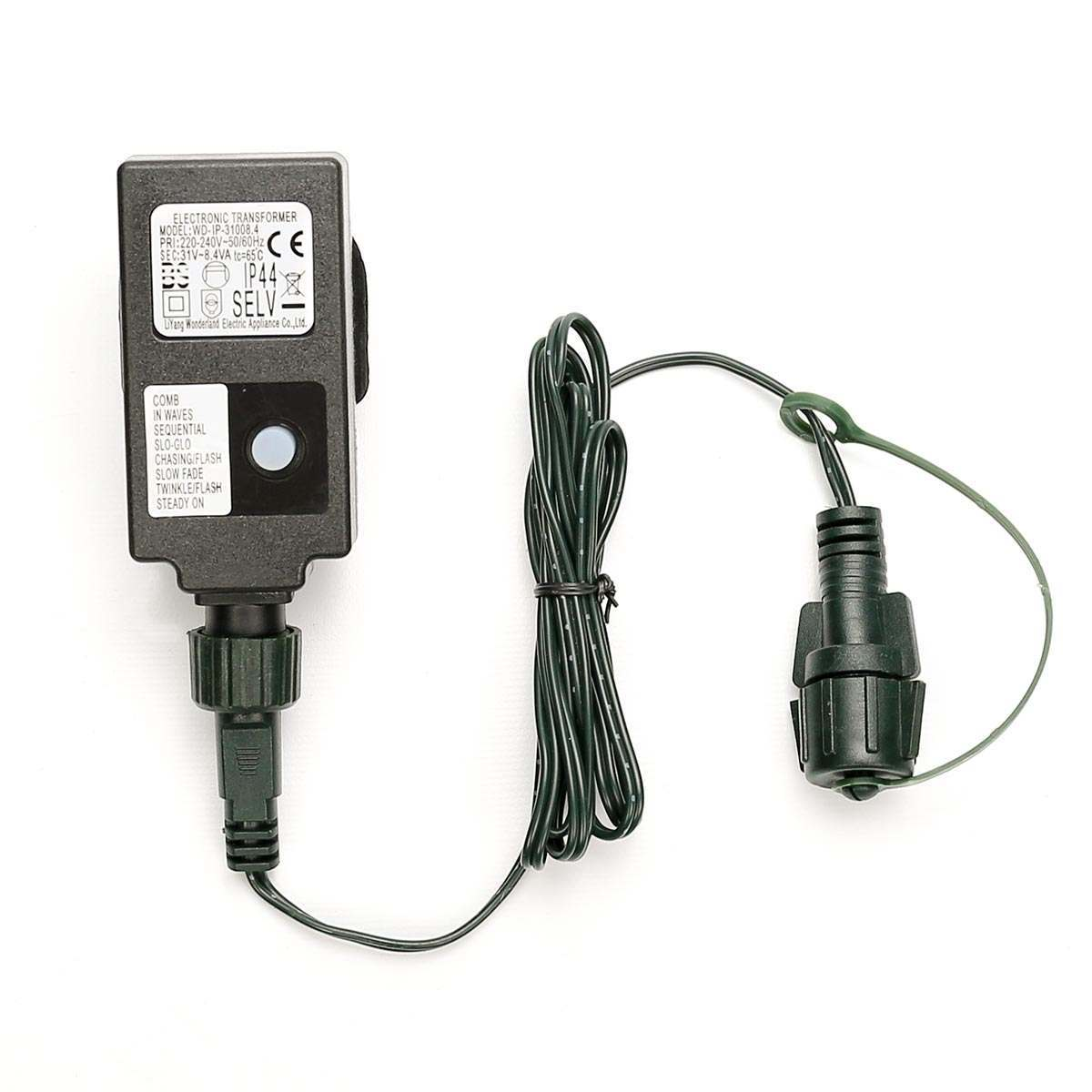 Small Transformer Uk Plug Green Cable