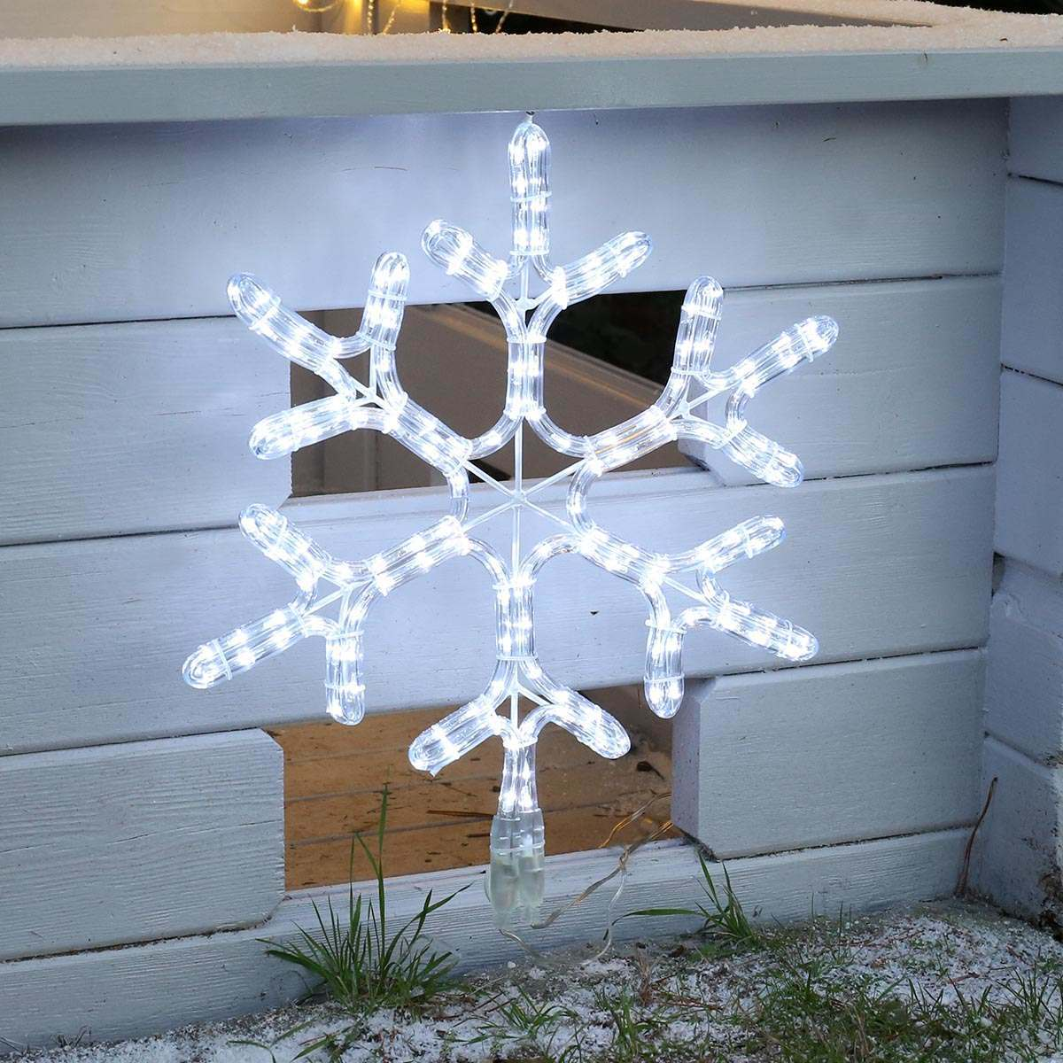 Click to view product details and reviews for Connectgo Outdoor Snowflake Christmas Silhouette Connectable 72 White Leds.