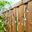 5m Outdoor Battery Heart Fairy Lights, Green Cable