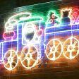 2.7m Aluminium Outdoor Christmas Animated Train Motif