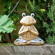 Solar Novelty Woodstone Frog Light