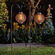 2 in 1 Solar Forli Flaming Lantern Stake Lights, 2 Pack