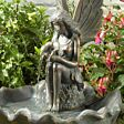 Solar Fairy with Leaf Water Feature