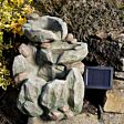 Solar Rock Fall Water Fountain