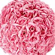 Fuchsia Hanging Decoration Rose Ball, 25cm