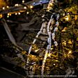 5m Outdoor Battery Fairy Lights, Warm White LEDs, Clear Cable