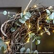 10m Outdoor Battery Silver Firefly Wire Lights