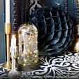 Battery Ombre Glass Dome Bell Jar with Wire Lights