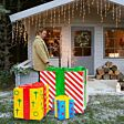 3 Assorted Sculpture Gift Boxes, 2800 LEDs