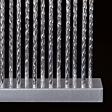 29cm Battery Silver Candle Bridge, 17 Warm White LEDs
