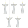 Battery Floating Angel Christmas Candles, 5 Pack