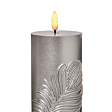 19cm Battery Silver Feather Candle with Remote