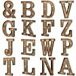 Wood & Metal A-Z Battery Light Up Circus Letter, 41cm