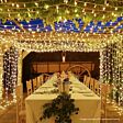 3m Outdoor String Lights, Connectable, 24 LEDs, White Rubber Cable